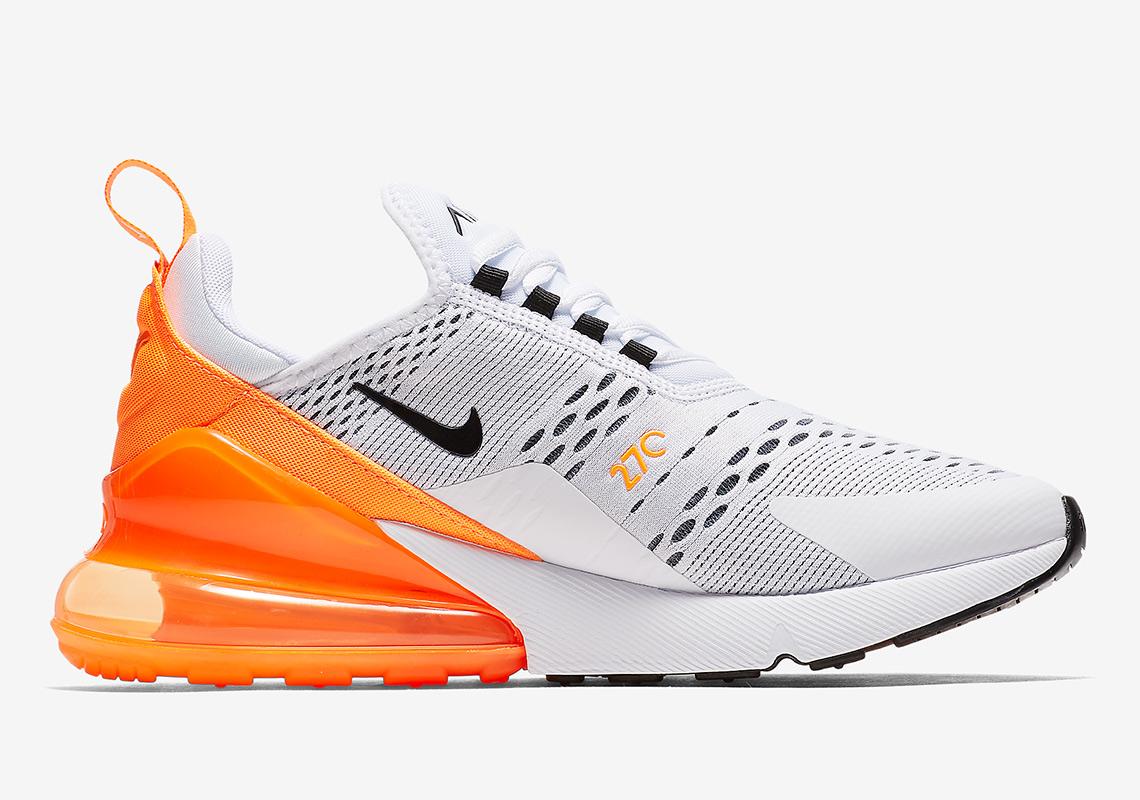 Nike AH6789 104 Air Max 270 Women White Orange Black