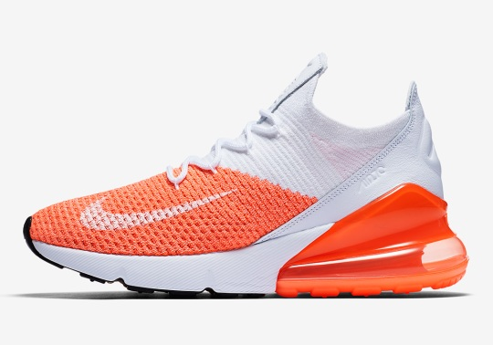 "Nike Air Max 270 Flyknit ""Crimson Pulse"" Releases On May 15th"