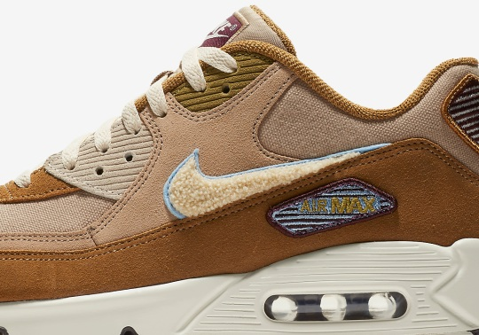 Nike Adds Chenille Swooshes To The Air Max 90