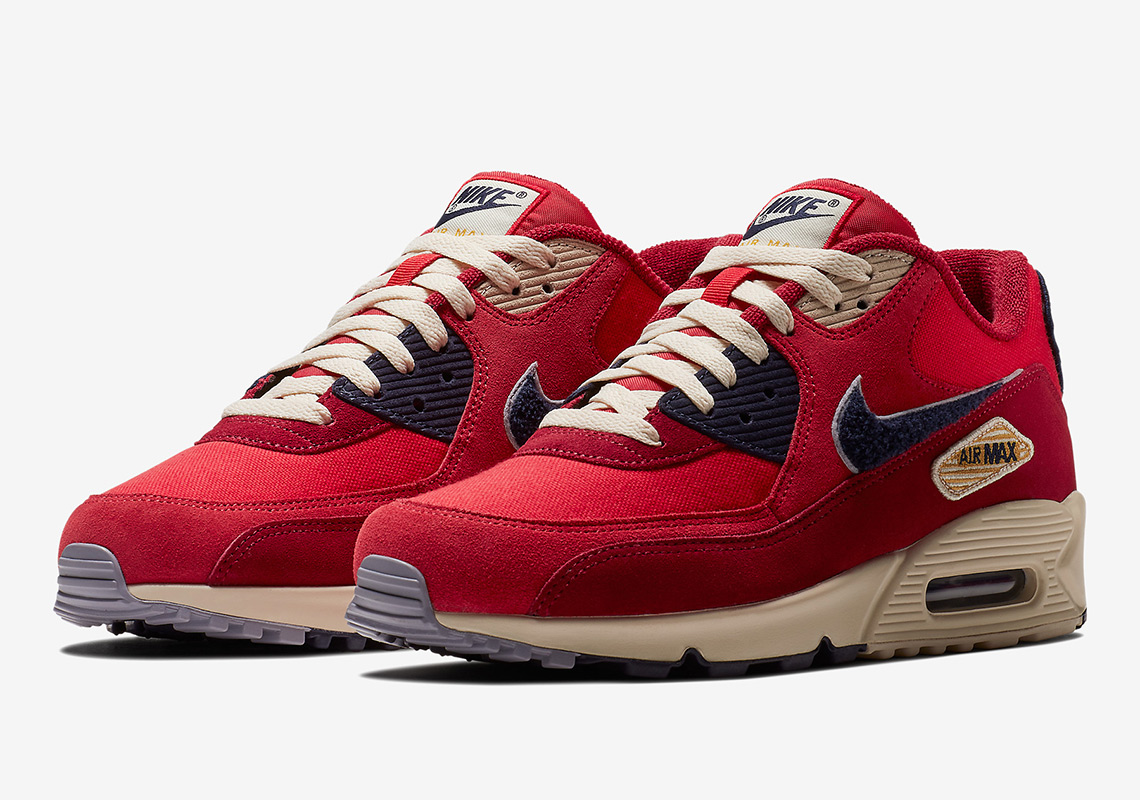 nike air max 90 chenille swoosh 858954 600 release info. Black Bedroom Furniture Sets. Home Design Ideas