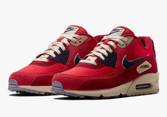 The Nike Air Max 90 With Chenille Swoosh Logos Arrives In July