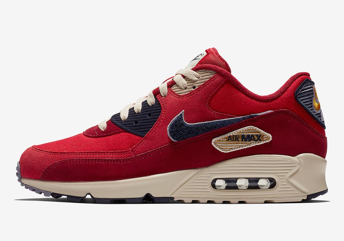 Nike Air Max 90 Chenille Swoosh 858954-600 Release Info ... e0138b870
