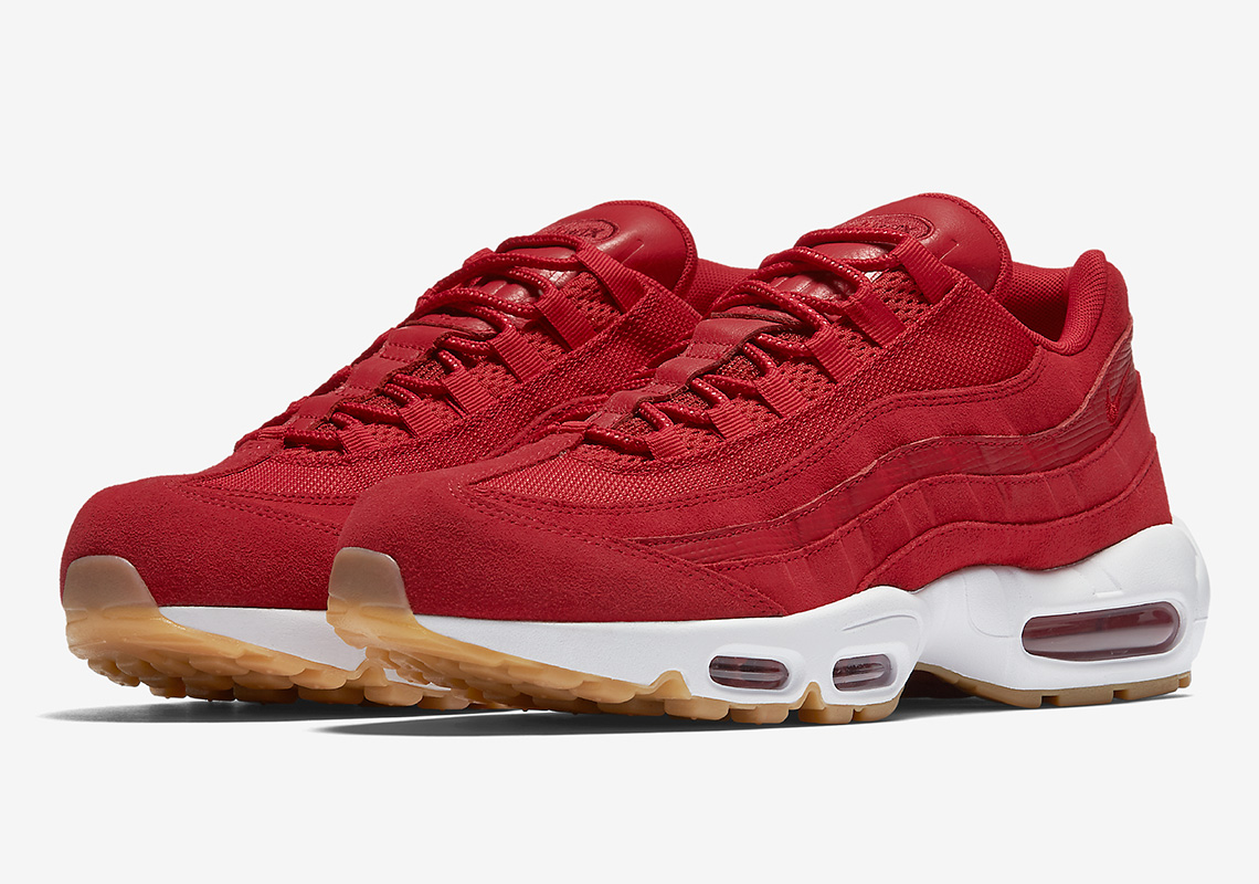 outlet store cd4ba ce2fa Nike Air Max 95 Premium Arrives In Sail And Gym Red