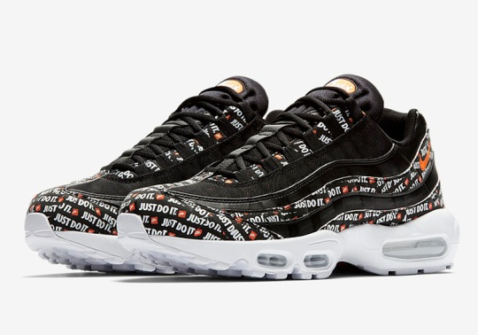 """The Nike Air Max 95 """"Just Do It"""" Is Coming In A Third Black Colorway"""
