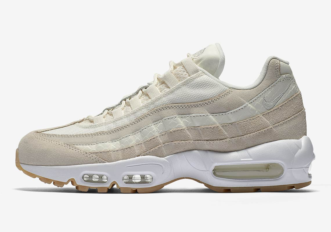nike air max 95 premium sail gym red available now. Black Bedroom Furniture Sets. Home Design Ideas