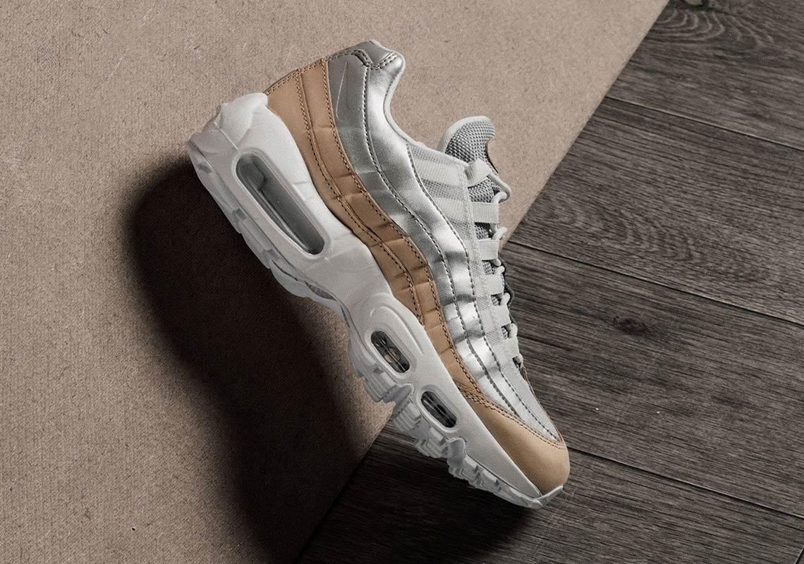 afe83b62d9 Nike Air Max 95 Women's Silver/Tan AH8697-002 Release Info ...