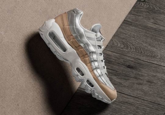 A Tan And Silver Pairing Comes To This Air Max 95 For Women
