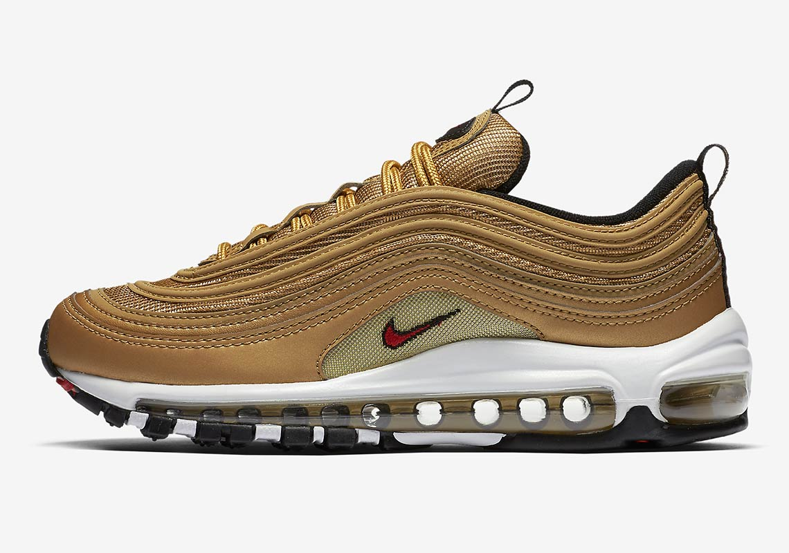 d99d953884 Nike Air Max 97. Release Date: May 17, 2018 $160. Color: Metallic Gold/Varsity  Red-White-Black