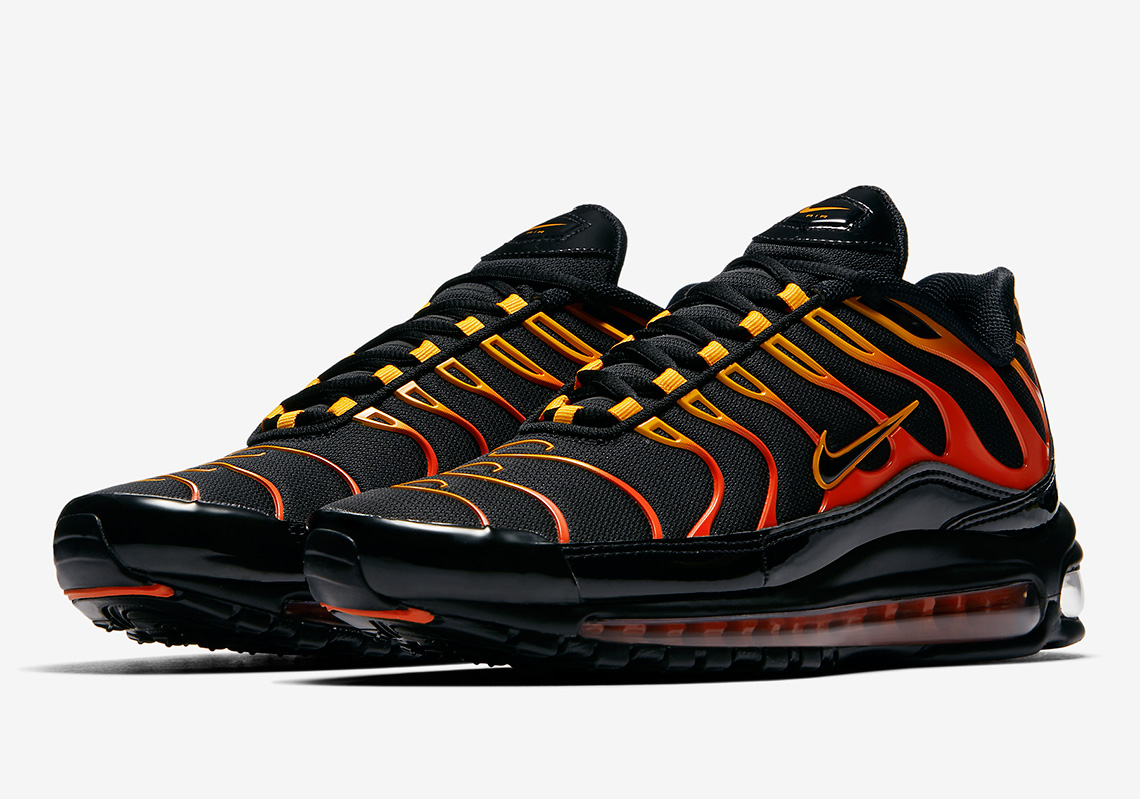 "The Nike Air Max 97 Plus ""Shock Orange"" Drops This Week"