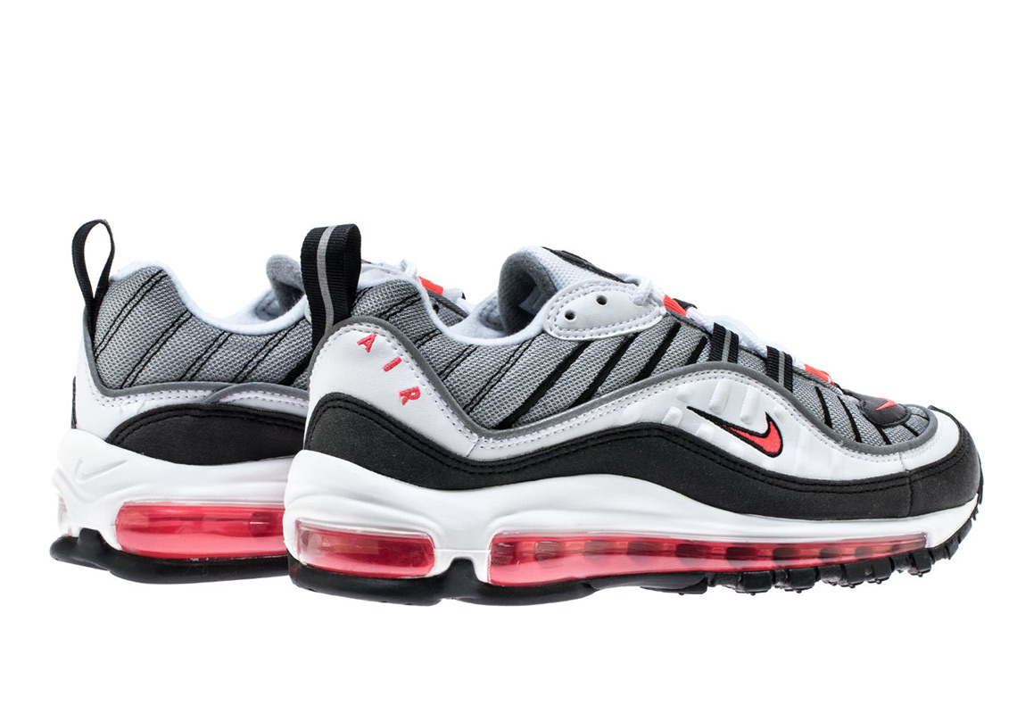 f9c3cadc36 Nike Air Max 98. Release Date: May 24th, 2018 $160. Color: White/Solar Red- Dust-Reflect Silver Style Code: AH6799-104. Advertisement. Advertisement