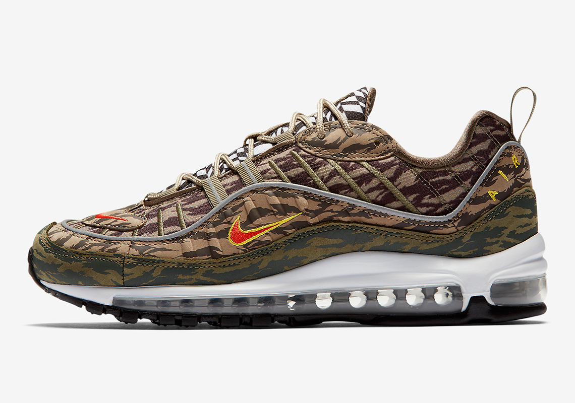 nike air max 98 tiger camo release info. Black Bedroom Furniture Sets. Home Design Ideas