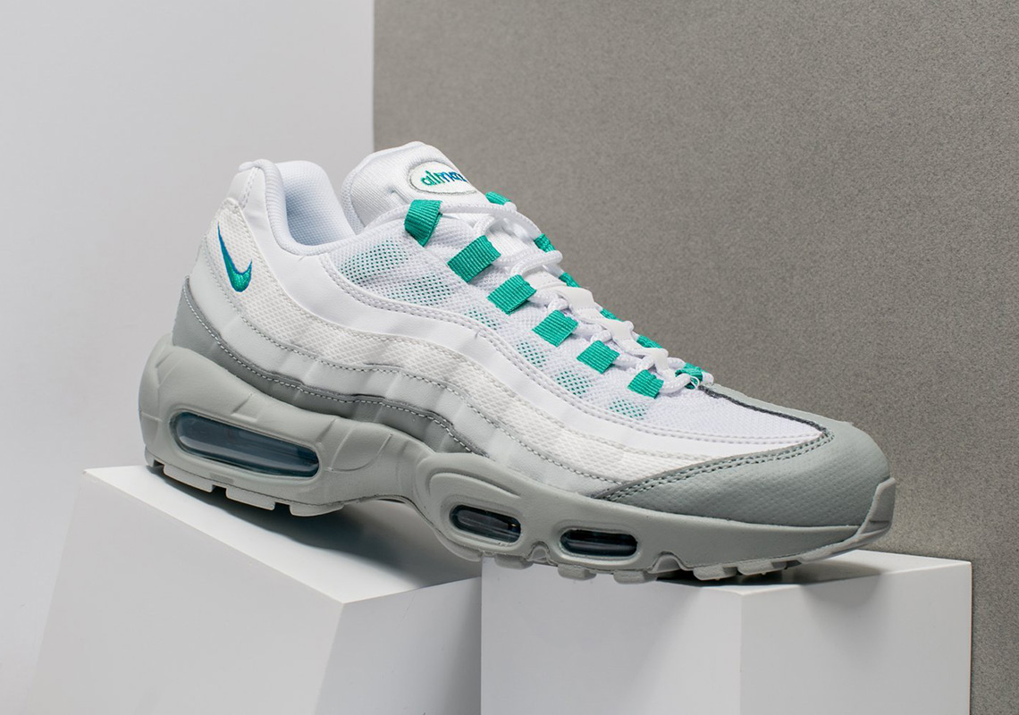 "info for 160fe c6aa3 Nike Air Max 95 ""Clear Emerald"" Is Available Now"