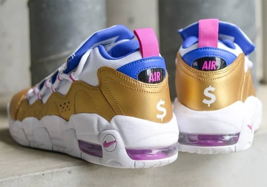 The Nike Air More Money Arrives In A Familiar Gold Color Scheme