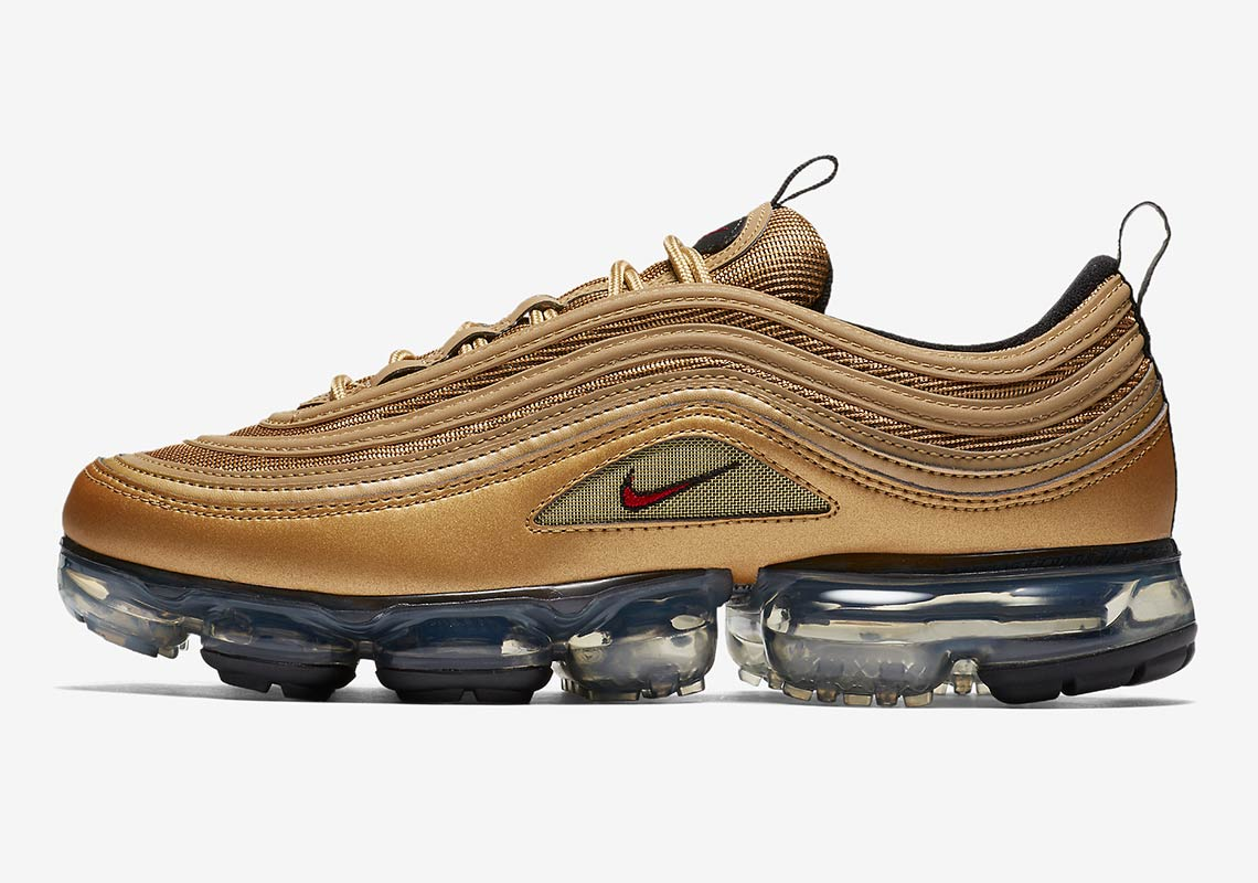 Nike Air VaporMax 97. Release Date May 17, 2018 190. Color Metallic  GoldVarsity Red-Black-White