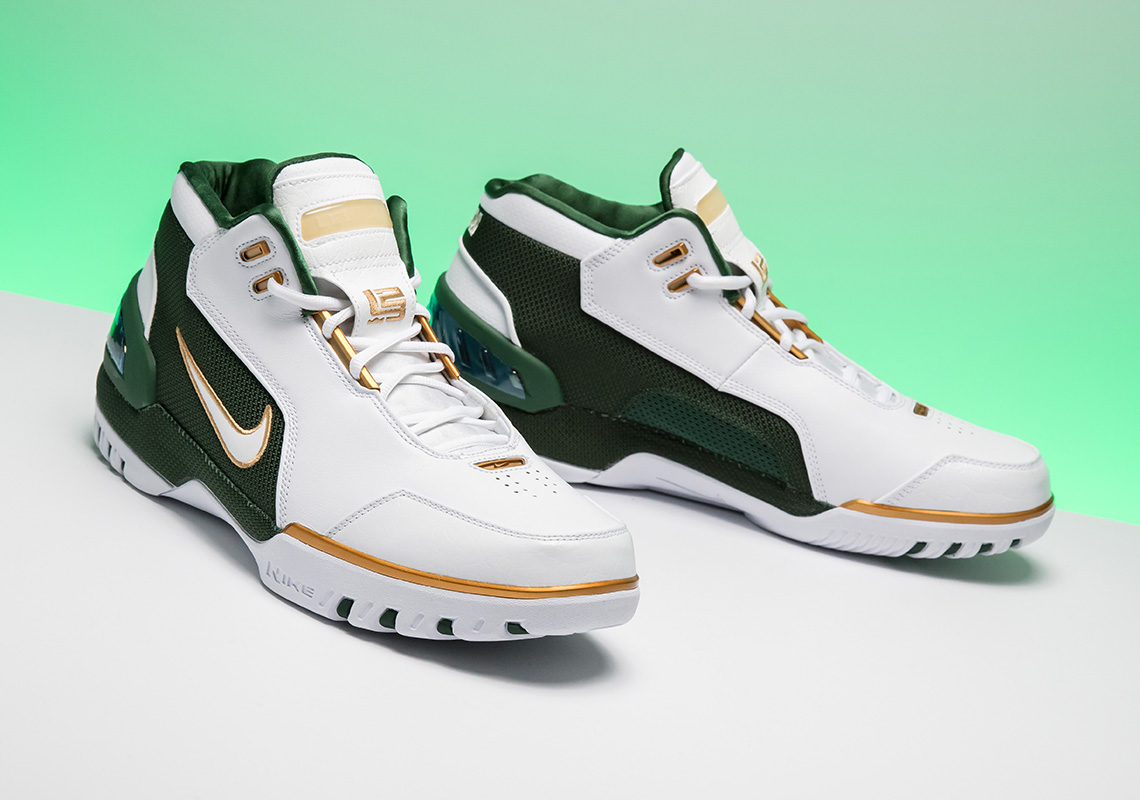 """Nike Air Zoom Generation """"SVSM"""" Release Date: May 26th, 2018. AVAILABLE AT  Stadium Goods Color: White/Metallic Gold Dust-Deep Forest-White"""