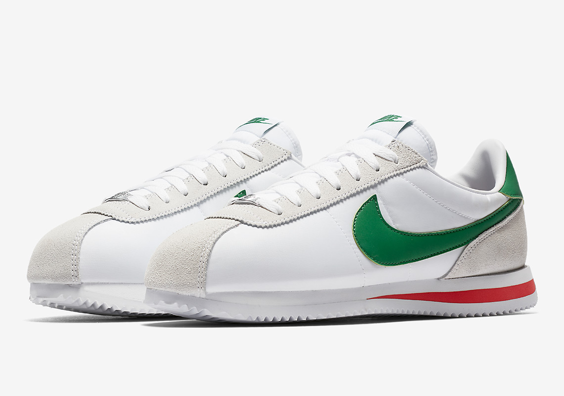 NIKE CORTEZ 819720103 CINCO DE MAYO White / Pine Green Habanero Red