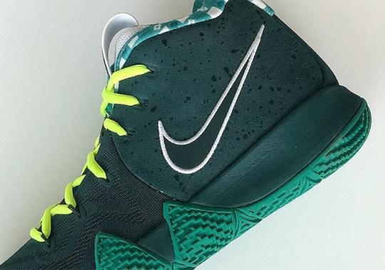 "Jayson Tatum Debuts Nike Kyrie 4 ""Green Lobster"""