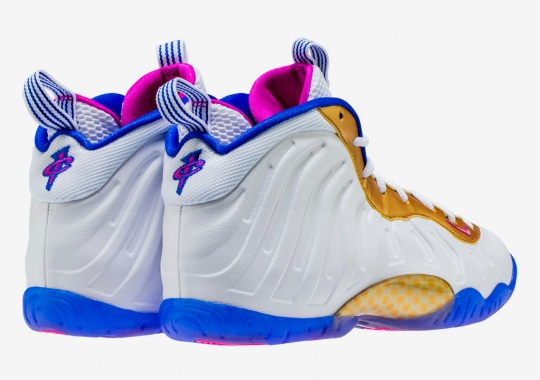 The Nike Little Posite One Arrives In Fuchsia, Royal, And Gold