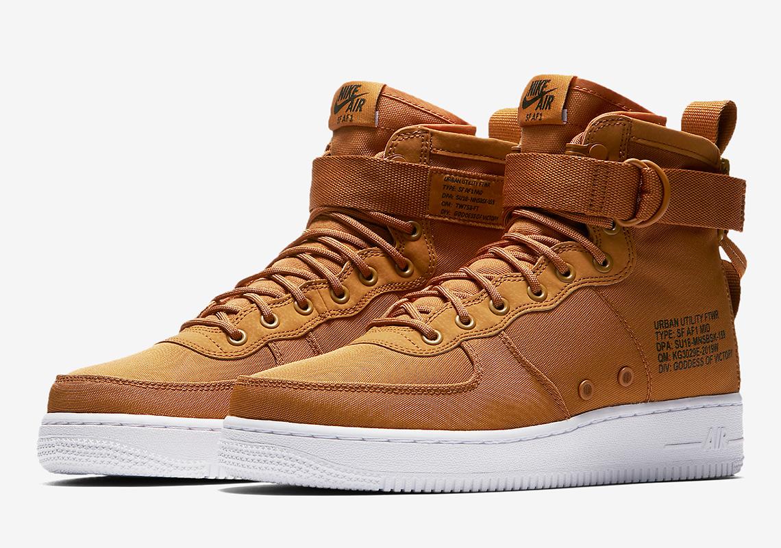 Nike SF Air Force 1 Mid Desert Ochre 917753 700