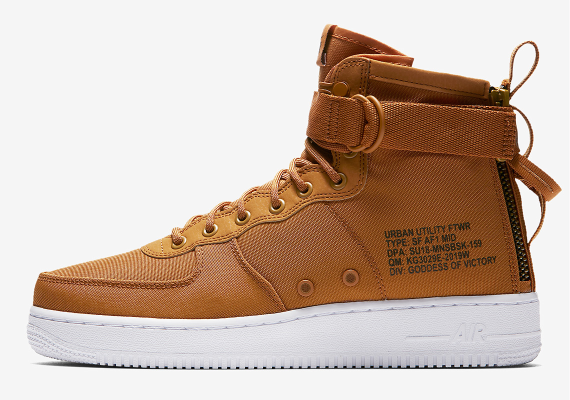 The Nike SF AF1 Mid Desert Ochre Is Now Available