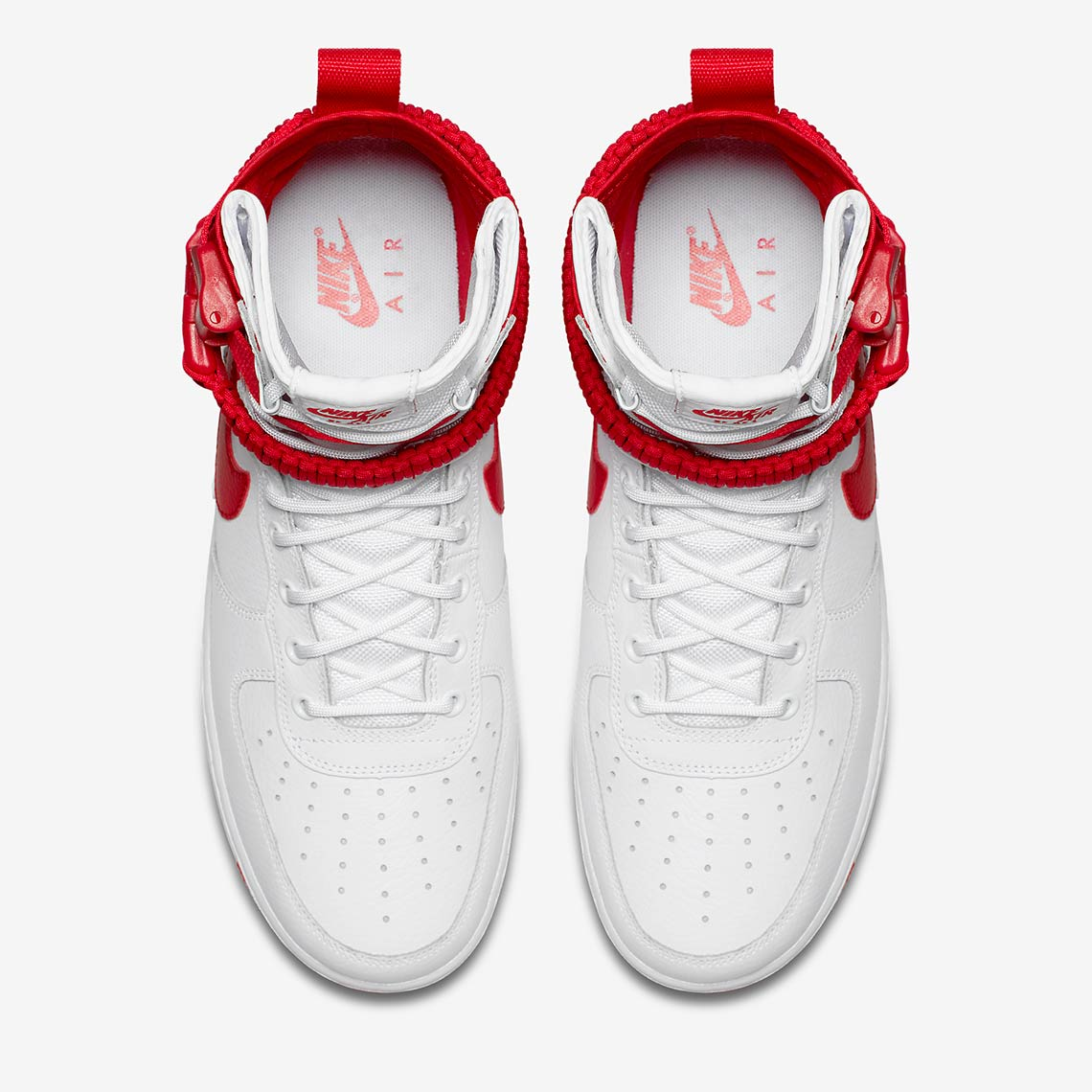 d0acb0719670 Nike SF-AF1 High AVAILABLE AT Nike  180. Color  White University Red University  Red