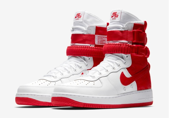 "The Nike SF-AF1 High Returns In ""University Red"""