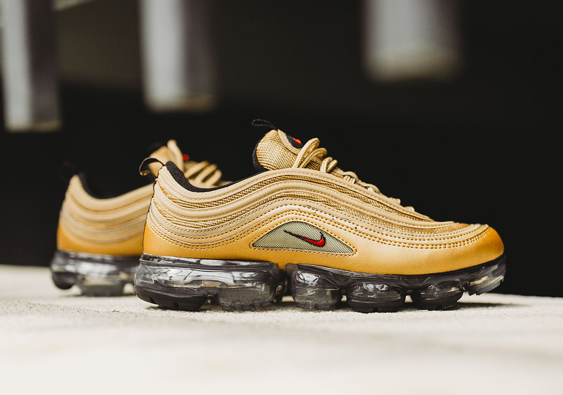 "Where To Buy The Nike Vapormax 97 ""Metallic Gold"""