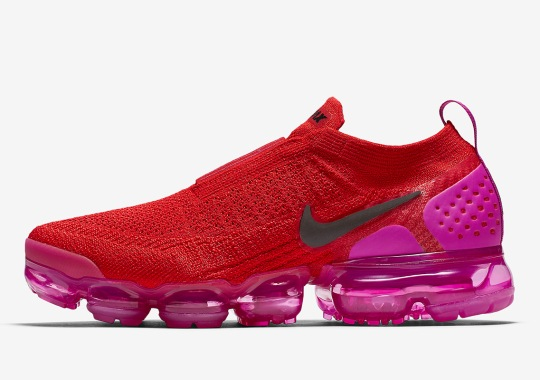 The Nike Vapormax Moc 2 Set To Arrive In Bold Red And Pink Colorway