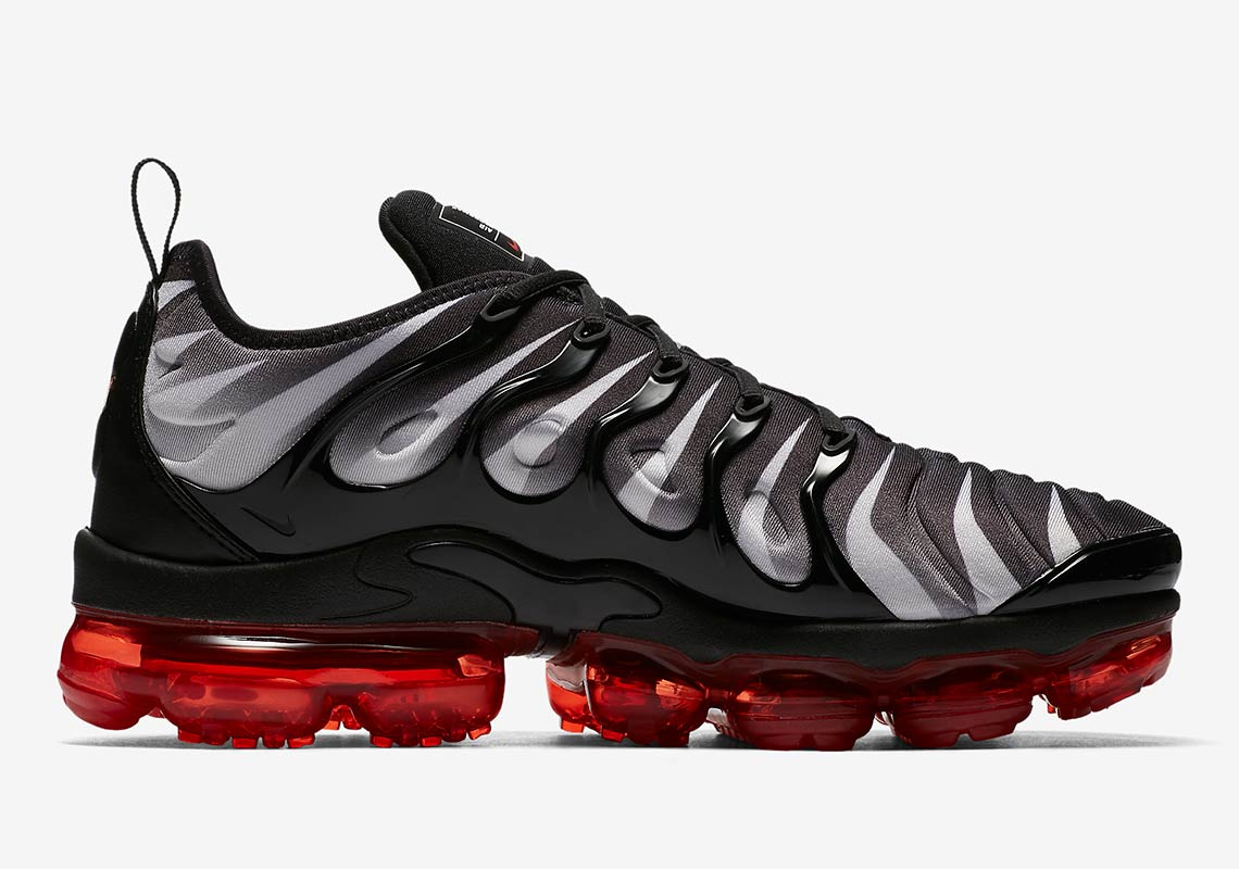 bb6d2e744157 Nike VaporMax Plus AVAILABLE AT Nike  190. Color  Black White Speed Red