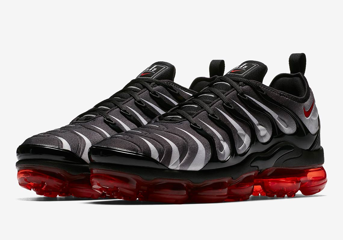 276cc7da0a177 Nike VaporMax Plus AVAILABLE AT Nike  190. Color  Black White Speed Red  Style Code  AQ8632-001