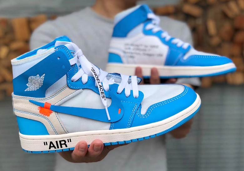 cff4291e77ea OFF WHITE Air Jordan 1 UNC Detailed Images AQ0818-148