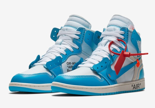 "Official Release Info For The OFF WHITE x Air Jordan 1 ""UNC"""