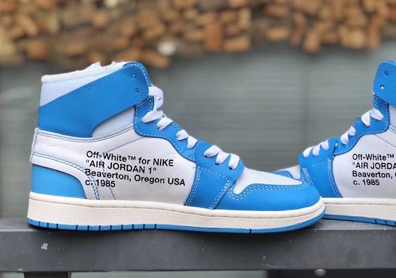 OFF WHITE Air Jordan 1 UNC Detailed Images AQ0818-148  fa924669ec