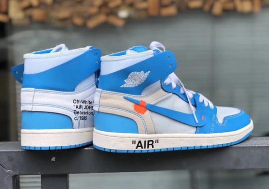 5b62a1d3dd42 OFF WHITE Air Jordan 1 UNC Blue Release Date