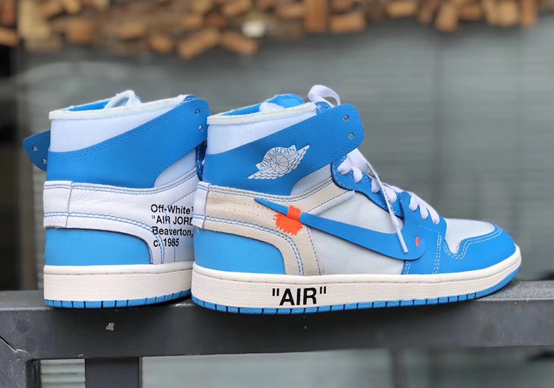 c7fc34c0313188 OFF WHITE Air Jordan 1 UNC Detailed Images AQ0818-148