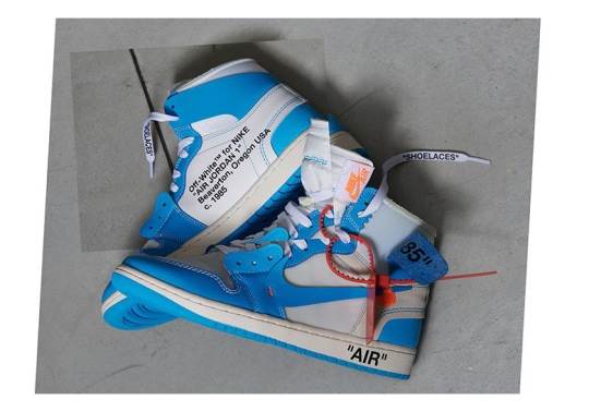 "Official Images Of The OFF WHITE x Air Jordan 1 ""UNC"""