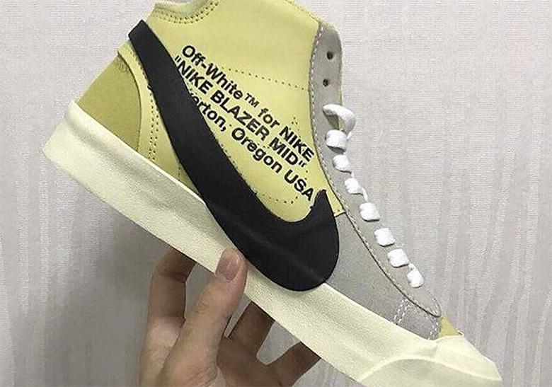 OFF WHITE x Nike Blazer Yellow First