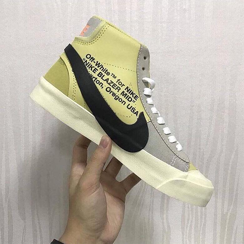 Nike Blazer Jaune De Marques Blanches kR9YU
