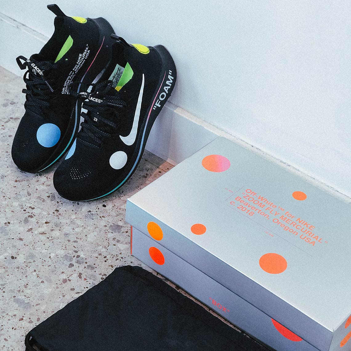 2032db4229cd OFF WHITE Nike Zoom Fly Flyknit Mercurial Release Info A02115-001 ...
