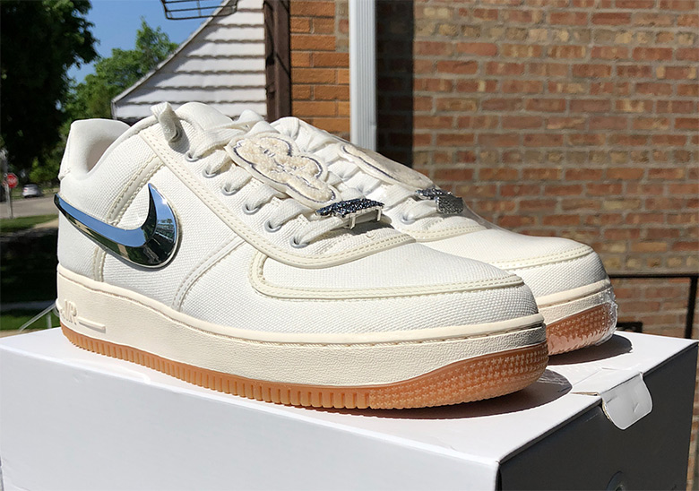 Travis Scott x Nike Air Force 1  150. Color  Sail Gum Light Brown Sail c1a1937f5