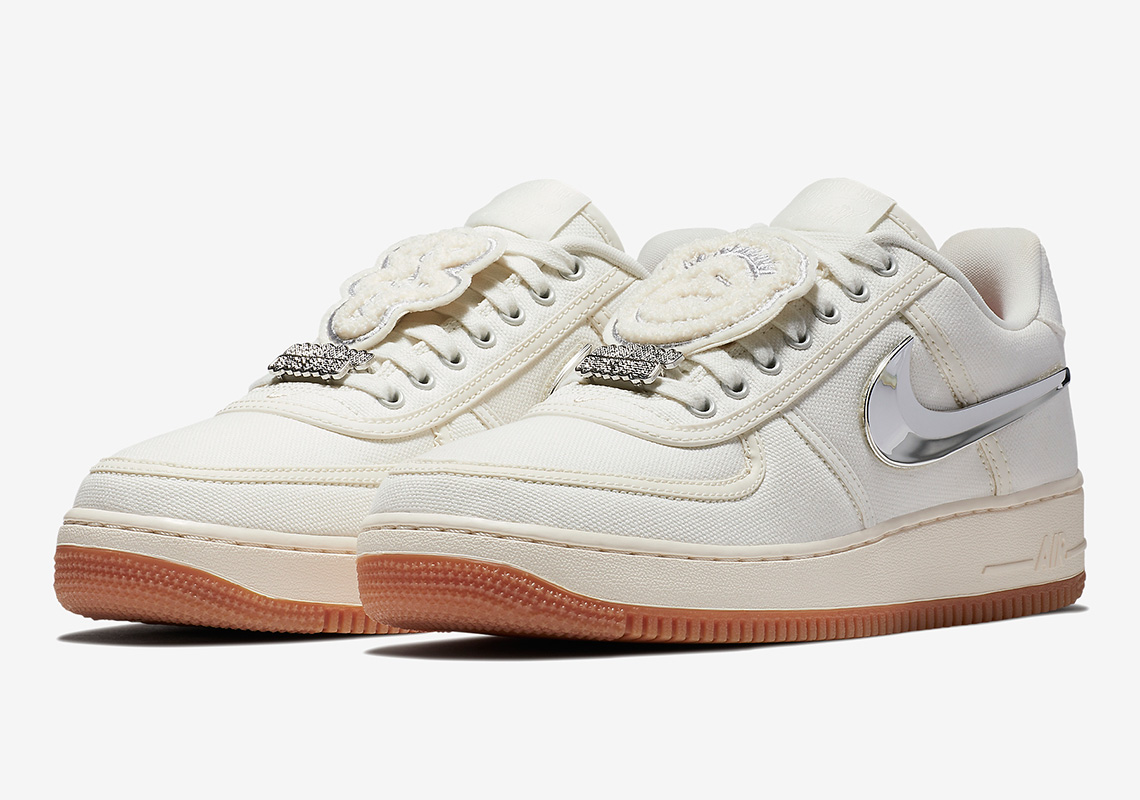 c22abbf68f Travis Scott Nike Air Force 1 Low Sail AQ4211-101 | SneakerNews.com