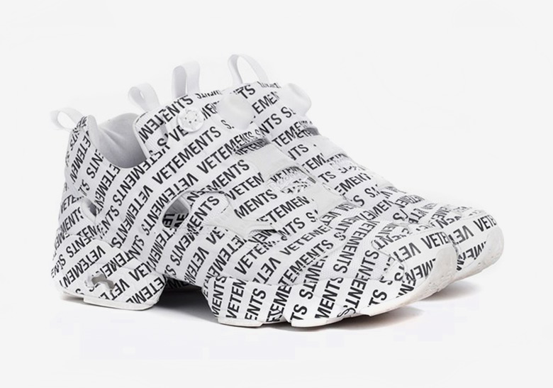 """VETEMENTS And Reebok To Release """"Monogram"""" Instapump Fury In 2019 6e769cc9b"""