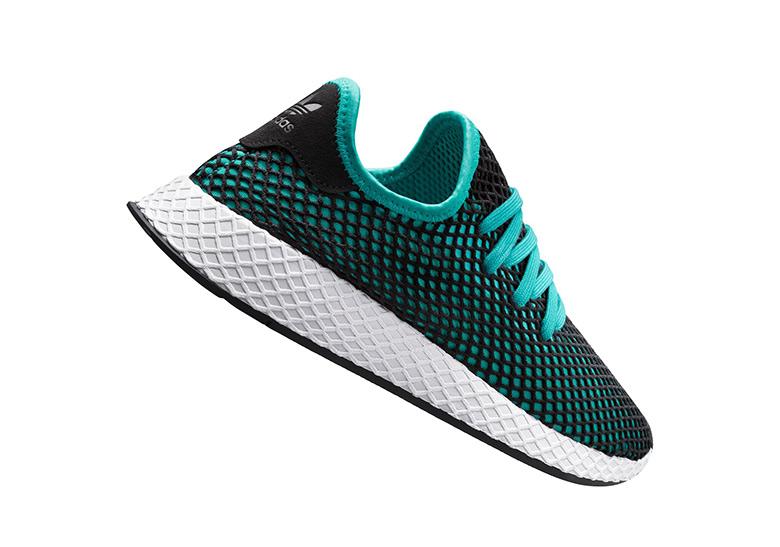 outlet store 08c35 33ddd adidas Deerupt Release Date July 5th, 2018. AVAILABLE AT adidas 100.  Color Hi-Res Aqua  Hi-Res Aqua  Core Black