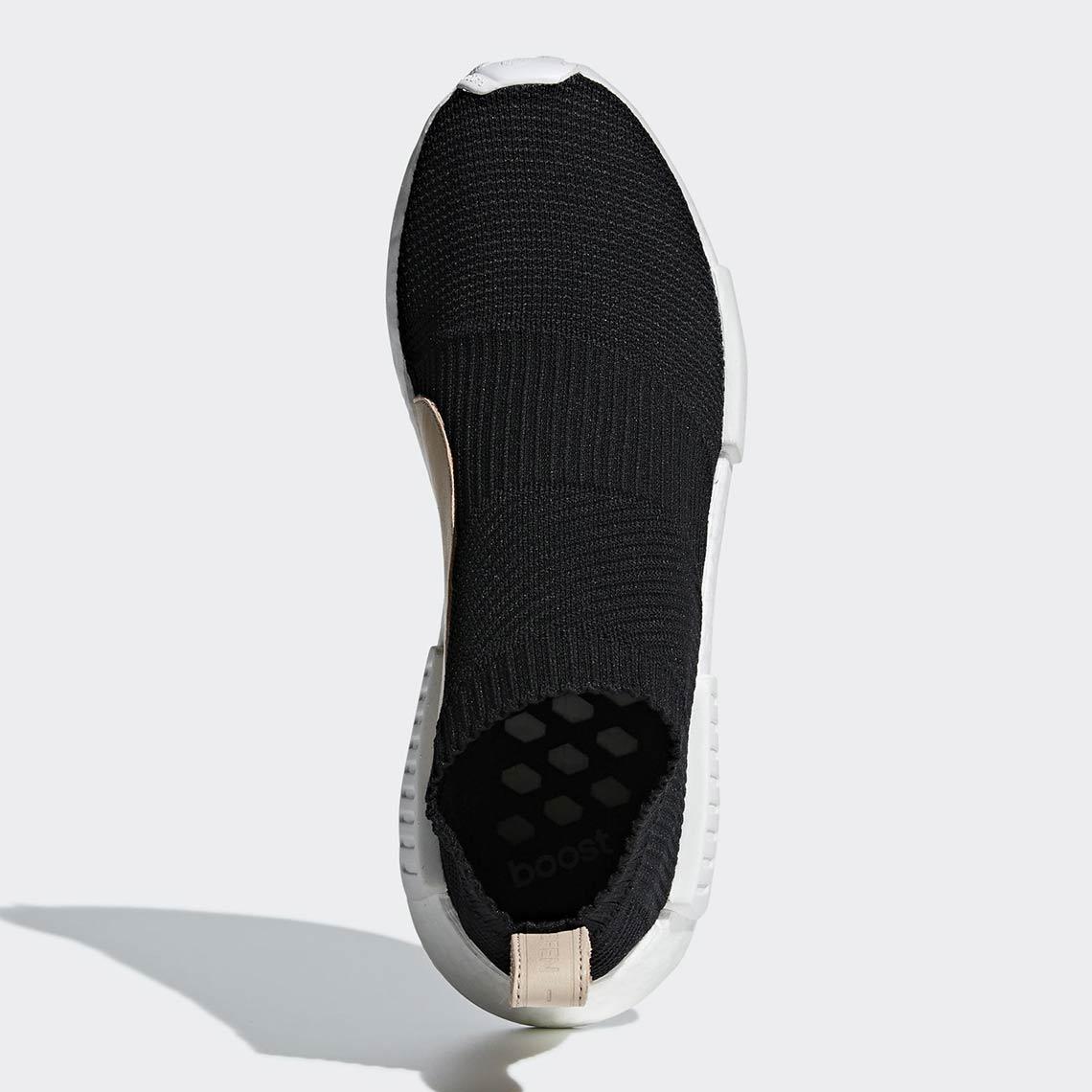 sale retailer 66138 3dd4c adidas NMD City Sock Black/Tan Leather AQ0948 Release Date ...