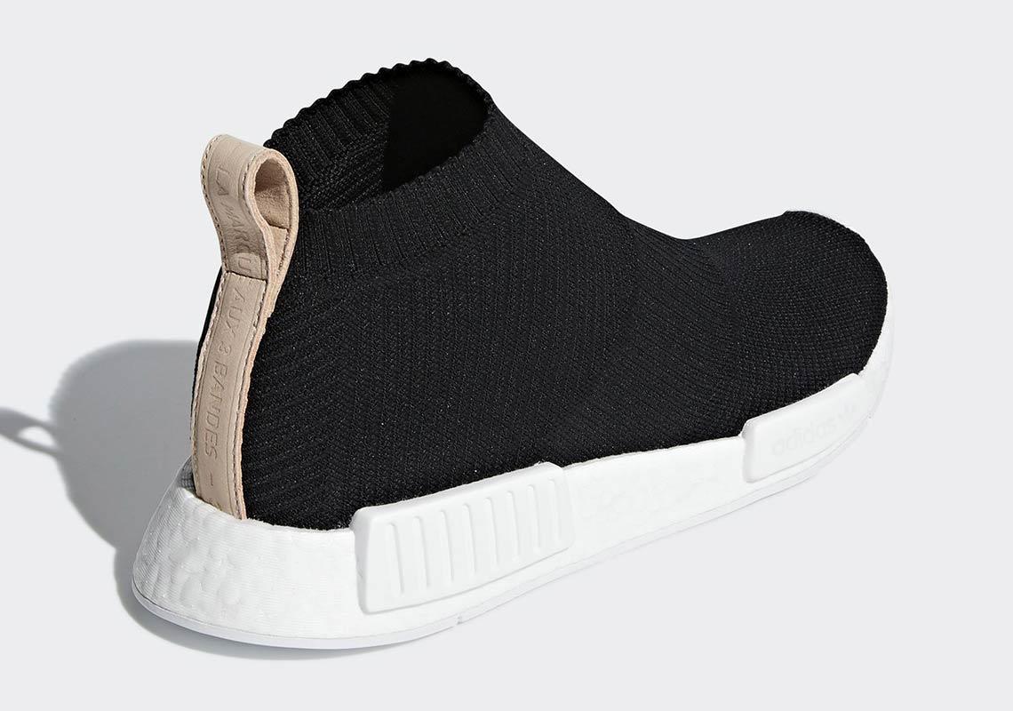 sale retailer 111b9 50fa6 adidas NMD City Sock Black/Tan Leather AQ0948 Release Date ...