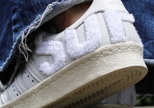 These adidas Superstars Add Huge Varsity Letters On The Heel