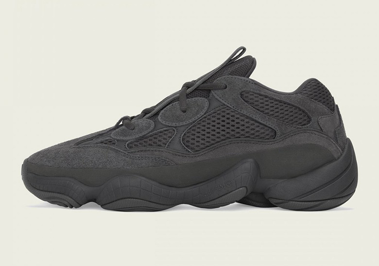 "336990895b40a adidas Yeezy 500 ""Utility Black"" Releases On July 7th"