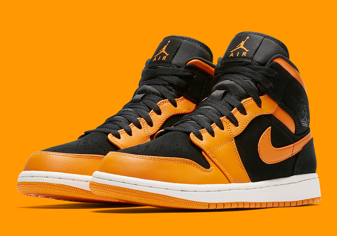 "Air Jordan 1 Mid ""Orange Peel"" Brings Back Shattered Backboard Vibes 207bbc8dccb5"