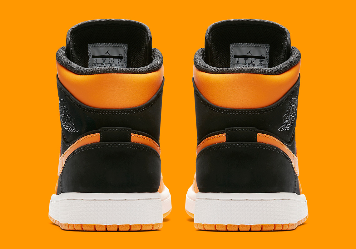 a6b959592c9 Air Jordan 1 Mid Available now on Nike.com  110. Color  Black Orange Peel- Sail Style Code  554724-081. show comments
