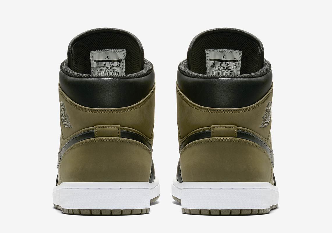 Air Jordan 1 Mid  110. Color  Olive Canvas Black Style Code 554724-301.  show comments 92b3d3827
